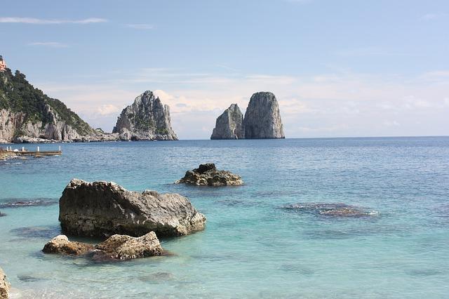 pobřeží Capri